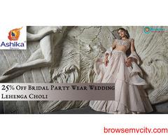 25% Off Bridal Party Wear Wedding Lehenga Choli