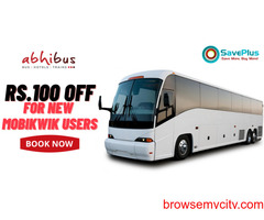 Abhi Bus Coupons, Deals & Offers: Rs.100 Off for New MobiKwik Users