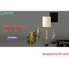 Address Home Coupons, Deals & Offers: Get Table Lamps Starts from Rs. 490