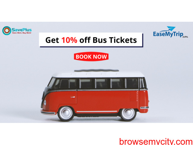 EaseMyTrip Coupons, Deals & Offers: Get 10% off Bus Tickets - 1/1
