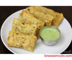 Aloo stuffed Masala Papad