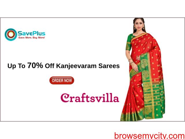 Craftsvilla Coupons, Deals, sales , and Codes: Up To 70% Off Kanjeevaram Sarees - 1/1
