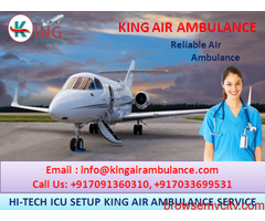 Topmost Safe Air Ambulance in Patna Available by King Air Ambulance