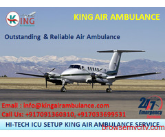 Take Safe and Reliable Air Ambulance in Varanasi by King Ambulance