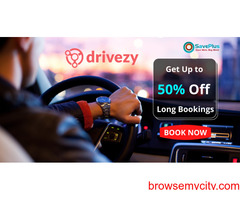 Drivezy Coupons, Deals & Offers: Get Up to 50% Off Long Bookings
