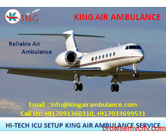 Finest and Low-Charges ICU Air Ambulance in Hyderabad-King Ambulance