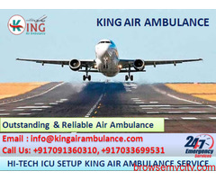 Use Outstanding Emergency Air Ambulance in Ranchi-King Air
