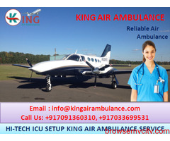 ICU King Air Ambulance in Kolkata Available for Critical Patient