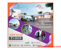 4BHK Villas in Bowrampet | Vajradevelopers