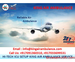 King Air Ambulance Service in Bhubaneswar with Medical Team