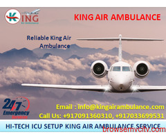 Take Safe Emergency Air Ambulance Service in Sri Nagar-King Air Ambulance