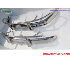 Volvo PV 544 US type bumper 1958-1965  by stainless steel (Volvo PV 544 US type stoßfänger)  One set