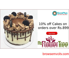 MyFlowerTree Coupons, Deals, sales, and Codes: 10% off Cakes on orders over Rs.899