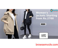 Aapro Coupons Deals Offers Women Jackets Starting from Rs 2700