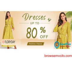 Up to 80% off on Dresses