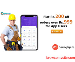 HouseJoy Coupons, Deals: Flat Rs.200 off orders over Rs.999 for App Users