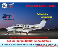 Choose Outstanding Air Ambulance from Varanasi by King Ambulance