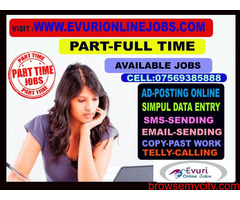 Full Time / Part Time Home Based Data Entry Jobs, Home Based Typing Work Ad Matter / Discription