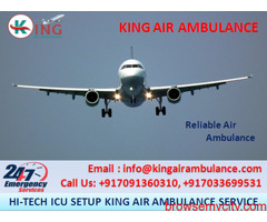 Hire Safe & Comfortable Air Ambulance Services in Raipur by King Ambulance