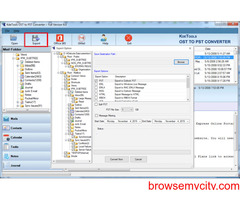 konvertiere ost in pst manuell