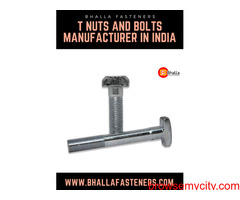 T nuts and bolts manufacturer in India - Bhalla Fasteners