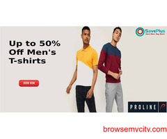 Prolineindia Coupons, Deals & Offers: Get Up to 60% off On Men's T-shirts