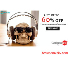 gadgets coupons, offers : Get up to 60% off Headphones and Speakers