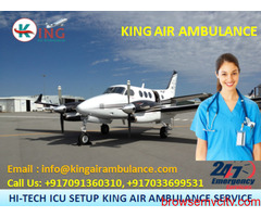 Safe & Excellent ICU Air Ambulance Services in Delhi by King Ambulance