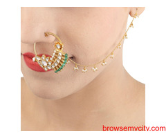 Buy Gold Plated Nose Rings Online | Stylish, Trendy & Fashionable