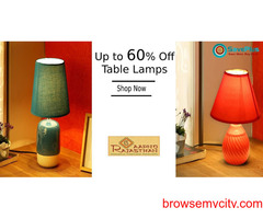 Aapno Rajasthan Coupons, Deals & Offers: Up to 60% Off Table Lamps