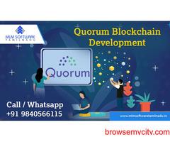 Quorum Blockchain Development-MLM Software Tamilnadu