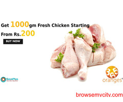 365oranges Coupons, Deals: Get 1000gm Fresh Chicken Starting From 200