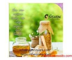 fresh raw organic honey