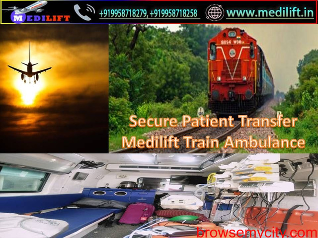 Safest Patient Transfer Train Ambulance from Patna to Delhi by Medilift - 1/1