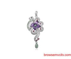 Buy Unique & Fancy silver pendant sets for women online - Arnia