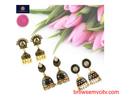 Buy Ethnic Jhumka Earrings Online from MK Jewellers