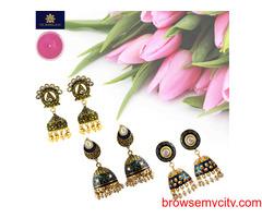 Buy Ethnic Jhumka Earrings Online from MK Jewellers