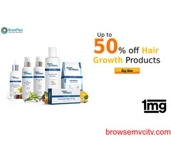 1MG Coupons, Deals & Offers: Up to 50% off Hair Growth Products