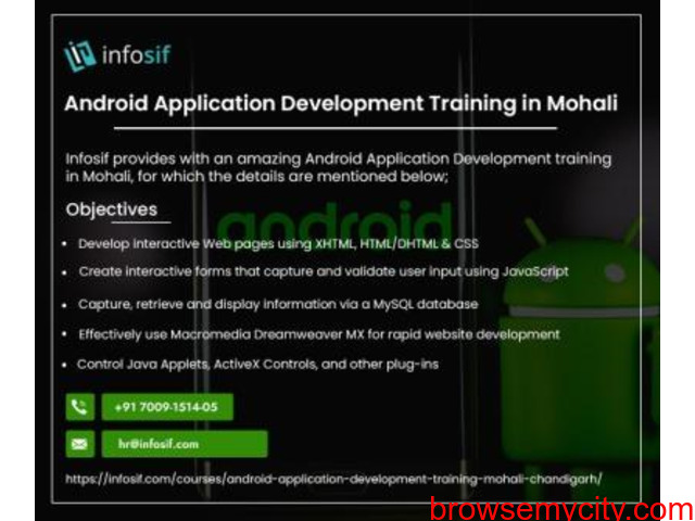 Android Training in Chandigarh   INFOSIF - 1/1