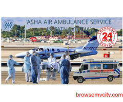 Get Air Ambulance Service for Covid patients with specialist EMS ICU facility and cost savings  ASHA