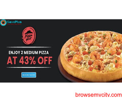 Pizza Hut Coupons, Deals & Offers: Save up to 43% on 2 Medium Pizzas