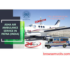 Get an Air Ambulance Service to a Covid patient with the quickest and best medical equipment  ASHA