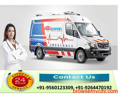 Well-Equipped ICU Ambulance Service in Patna by Medivic