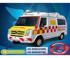 Use Perfect ICU Ambulance Service in Varanasi by Medivic