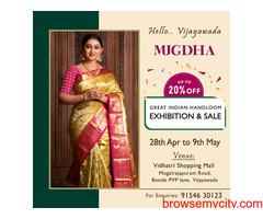 The Great Indian Handloom Exhibition & Sale From Mugdha is back at Vijayawada
