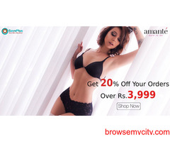 Amante Coupons, Deals,  Offers : Get 20% Off Your Orders Over Rs.3,999