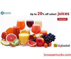 big basket coupons, offers : Up to 20% off select juices
