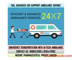 Choose ICU Care Medivic Ambulance Service in Danapur, Patna