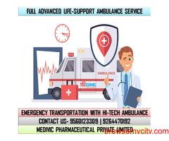 Hire Inexpensive Medivic Ambulance Service in Saguna More, Patna