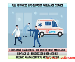 Take Quick Medivic Ambulance Service in Sri Krishna Puri, Patna